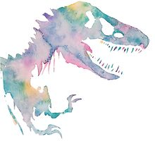 Watercolor Jurassic 2 by PeonyPaints