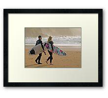 Surfer synchro Framed Print