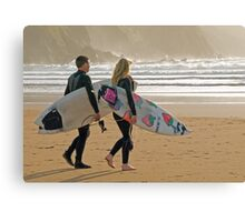 Surfer synchro Canvas Print