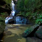 The Flowing Empress - Blue Mountains NP, NSW by Malcolm Katon