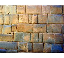 Perfect Stone Wall Photographic Print