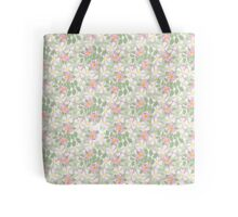 Pink Dog Roses on Taupe Tote Bag