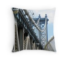 Entrance to Manhattan Bridge Throw Pillow