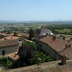 The roofs of Pérouges, France by KERES Jasminka