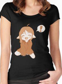 Kawaii Girl Women's Fitted Scoop T-Shirt