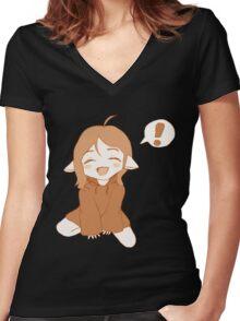 Kawaii Girl Women's Fitted V-Neck T-Shirt
