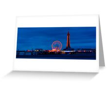 Blackpool - North Pier & Tower Greeting Card