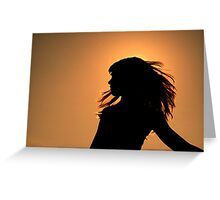 Sunset Glow in a Cloudless Sky Greeting Card