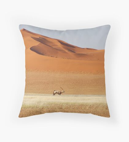 An Oryx posing Throw Pillow