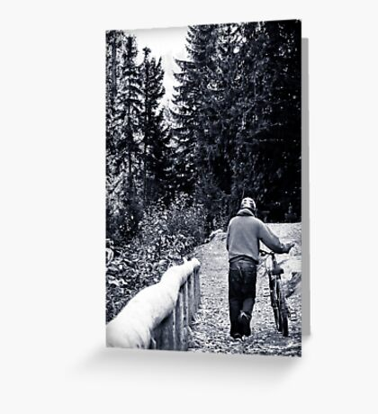 Hiking and biking Greeting Card