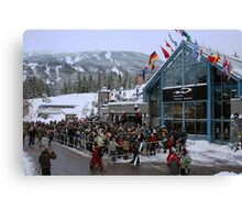 Opening day at Whistler Blackcomb Canvas Print