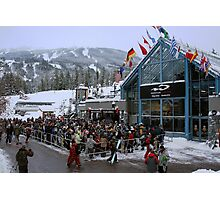 Opening day at Whistler Blackcomb Photographic Print