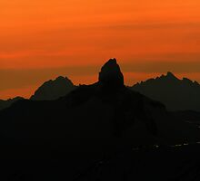 Sunset over Black Tusk by chwells