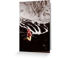 Snowboard air Greeting Card