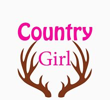 Country Girl Brown Antlers Womens Fitted T-Shirt