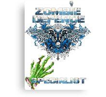 Zombie Defence Specialist - Guns n Skulls Canvas Print