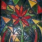 lamp base with mosaics by catherine walker