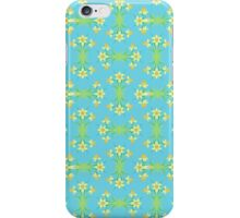 Spring Sunshine Daffodils on Aqua iPhone Case/Skin