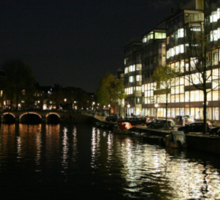 Amsterdam at Night6 Sticker