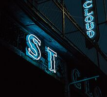 St Cloud Hotel Sign at Night by Shea Oliver