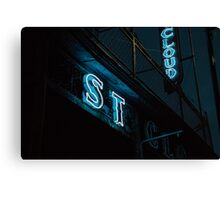 St Cloud Hotel Sign at Night Canvas Print