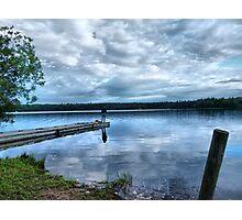 fishing at night Photographic Print