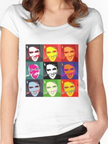 faces of Elvis Women's Fitted Scoop T-Shirt