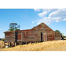Old Red Shearing Shed Photographic Print