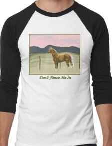 Don't Fence Me In Men's Baseball ¾ T-Shirt
