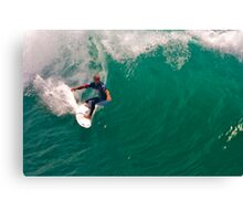 Kelly Slater US Open going for the pier Canvas Print