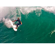 Kelly Slater US Open going for the pier Photographic Print