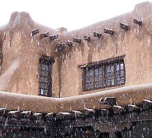 Adobe and snow by Thad Zajdowicz