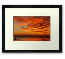 Sunset over Yarmouth Pier Framed Print