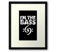 I'm the Bass Clef 69 Vintage White Framed Print
