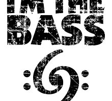 I'm the Bass Clef 69 Vintage Black by theshirtshops