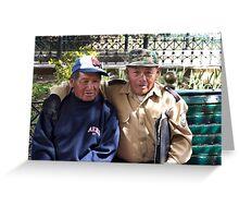 Buddies In Cuenca Ecuador Greeting Card