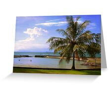 Palm Tree On The Beach Greeting Card