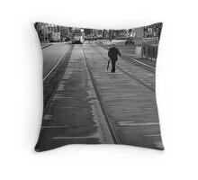 Tram Stop Throw Pillow