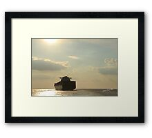 CMA CGM Columba in the Solent Framed Print