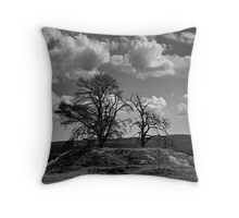 Trees on a Hill Throw Pillow