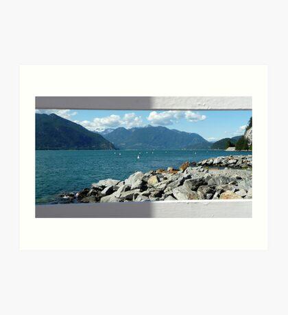 Postcard Squamish Art Print