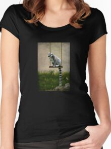 The Lemur Swing Women's Fitted Scoop T-Shirt