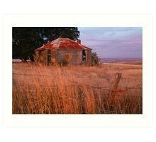 Sunset Glow, Barrabool Hills Art Print