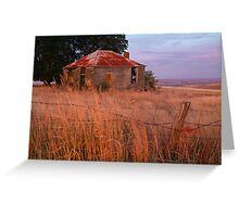 Sunset Glow, Barrabool Hills Greeting Card