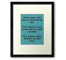 Ron Swanson Quote Framed Print