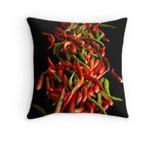 Chili On Black Throw Pillow