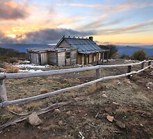 Craig's Hut, Mt Stirling, Australia by Michael Boniwell