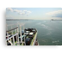 Red Funnel Ferry Crossing Southampton Water Canvas Print