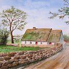 Traditional Irish Thatched Cottage by Jeno Futo
