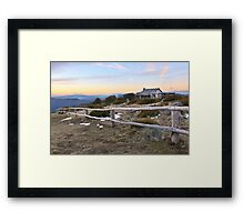 Craig's Hut, Mt Stirling, Australia Framed Print